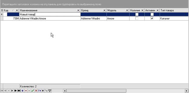iNETsHOP: редактировани данных - вставить запись