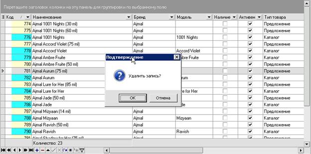 iNETsHOP: редактировани данных - удалить запись