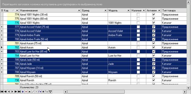 iNETsHOP: редактировани данных - исключить выделенные строки